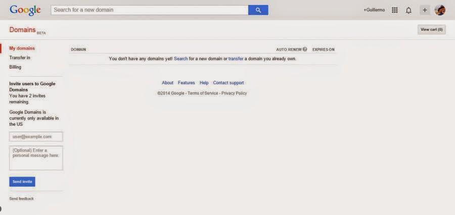Google Dominios