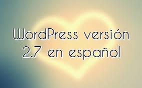 WordPress versión 2.7 en español